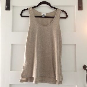 Shimmery gold tank top